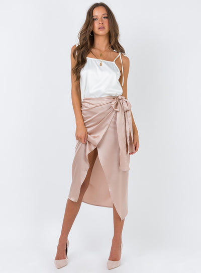 The Richie Wrap Skirt Champagne