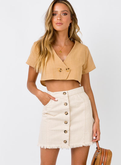 Minkpink Reside Button Through Skirt