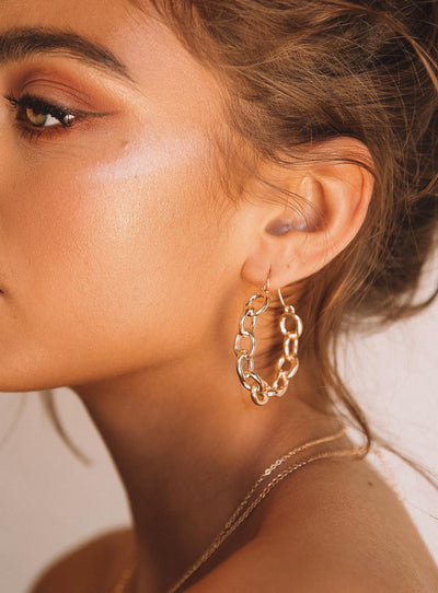 Chainlink Hoops Gold