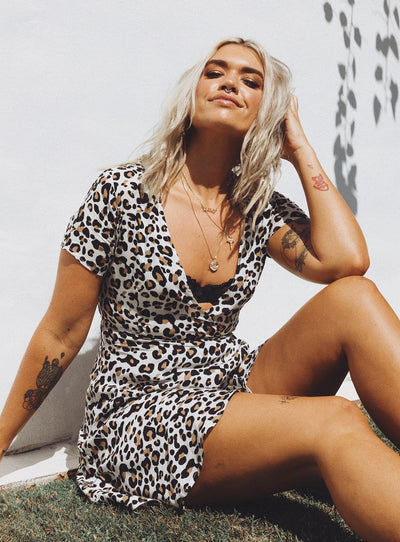 The Cala Leopard Mini Dress