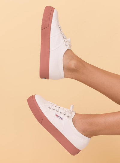 Superga 2730 Cotu White / Dusty Rose