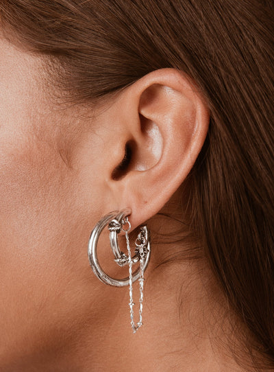 Minc Collections Oron Earring Set Silver