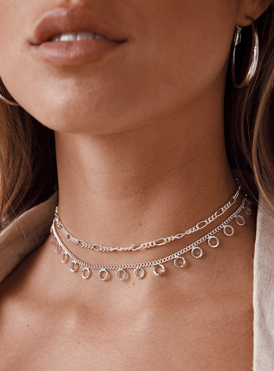 Minc Collections Flow Choker Set Silver