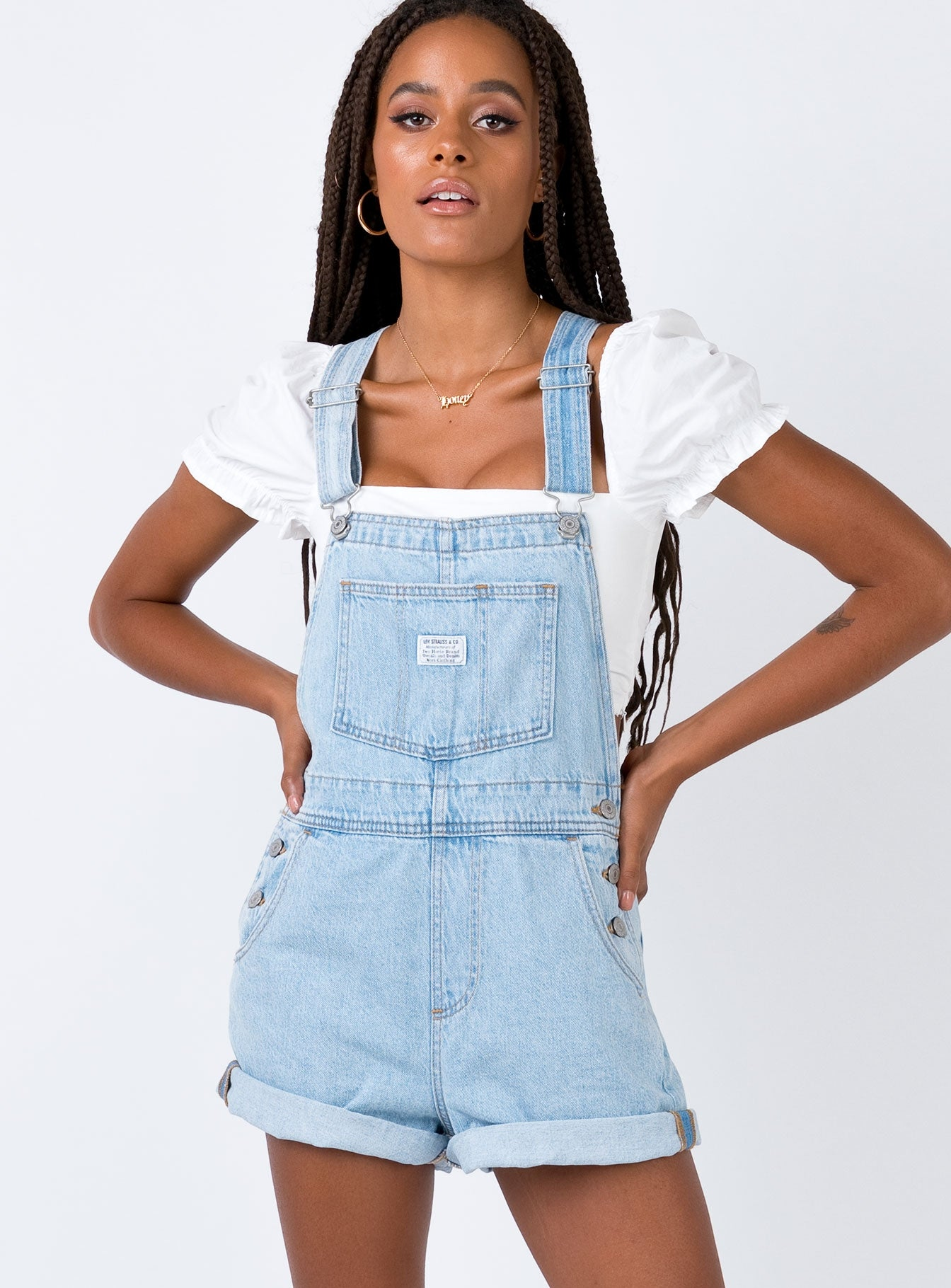 Levi's Plus Size Cotton Denim Overalls & Reviews Shorts