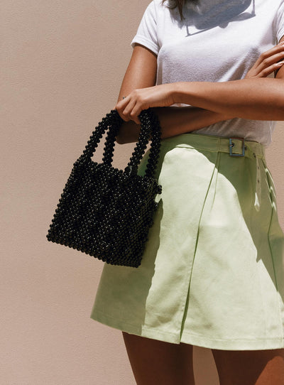 Full To Love Beaded Bag Black