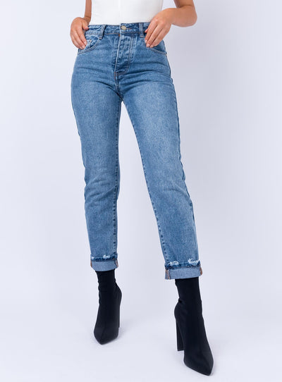 Secondcity Skinny Jeans Mid Wash Denim