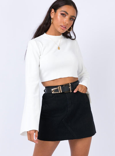 Nowhere Man Denim Skirt