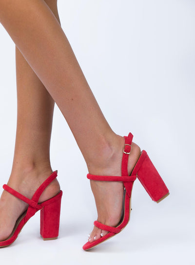 Billini Marnie Heels Red Suede