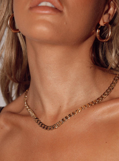8 Other Reasons Gold Link Necklace Gold