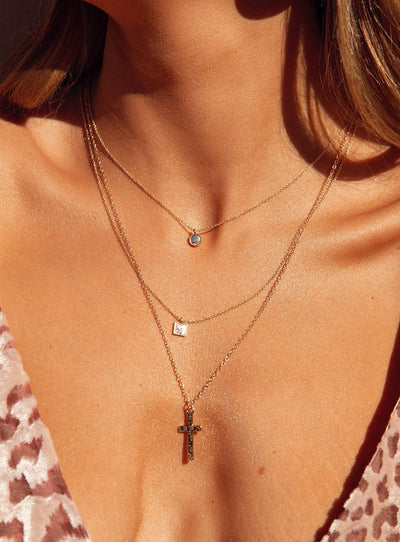 Cross Her Heart Necklace
