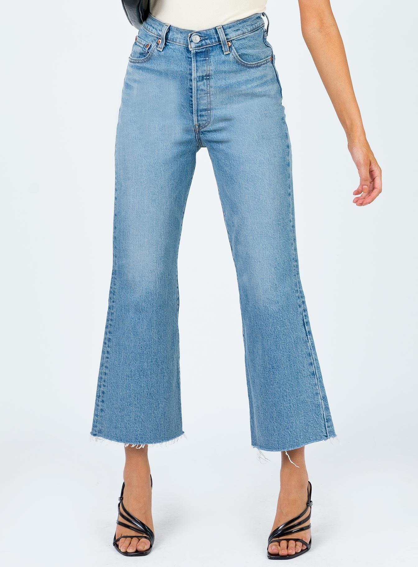 levis-ribcage-crop-flare-scapegoat by levis