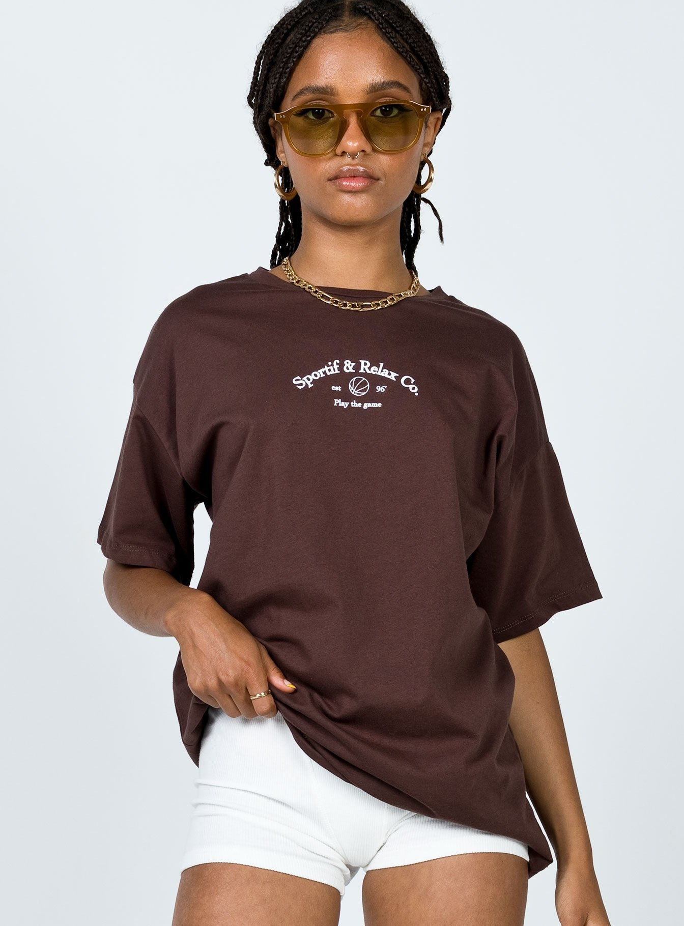 Play The Game Tee Brown