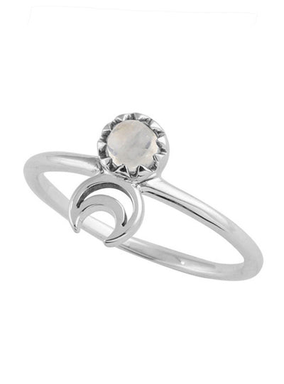 Moonstone Moon Eclipse Ring