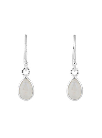 Moonstone Pear Earrings
