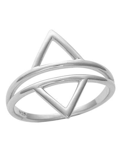Twin Triangles Ring