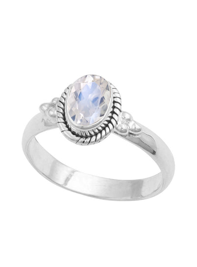 Midsummer Star Moonstone Bezel Ring