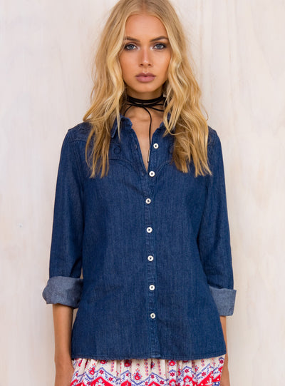 Somedays Lovin Blues Chambray Shirt