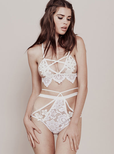 For Love & Lemons Ruby Applique Bralette