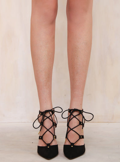 Therapy Black Trinket Heels