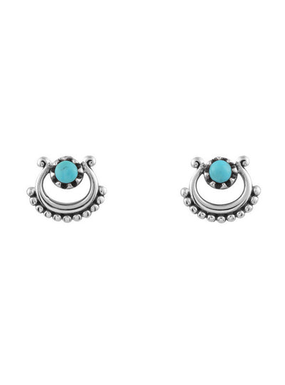 Midsummer Star Turquoise Beaded Curve Studs