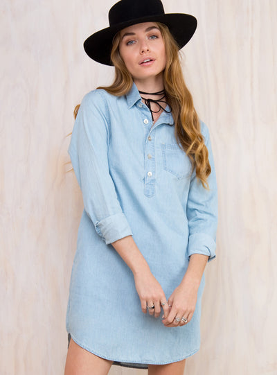 Minkpink Denim Shirt Dress