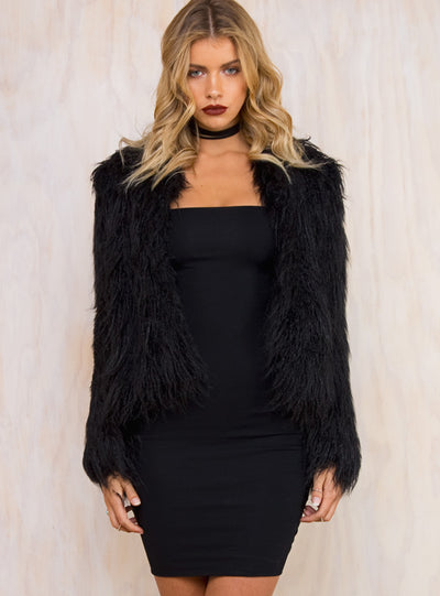 Minkpink Black Magic Fur Jacket