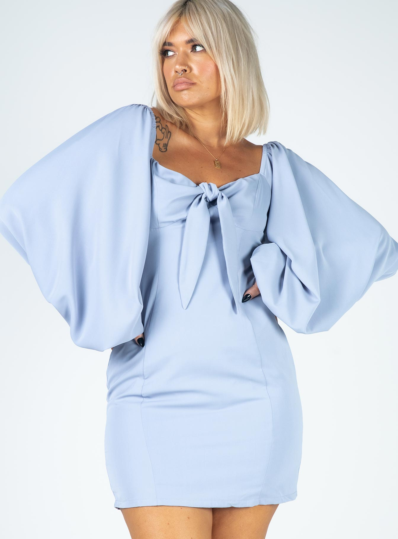 Misha Mini Dress Blue
