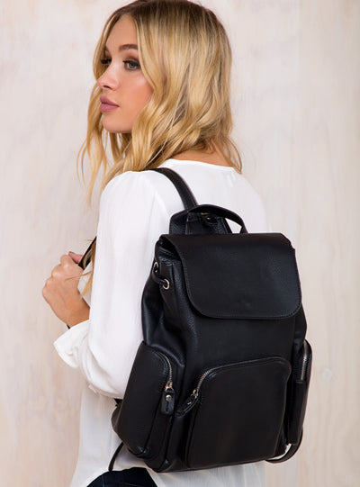 Zeppelin Vegan Leather Backpack