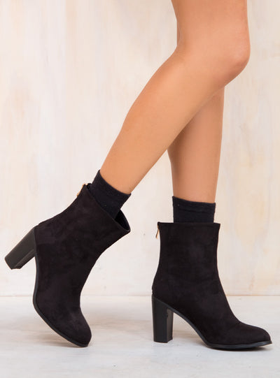 Billini Black Suede Envy Boots