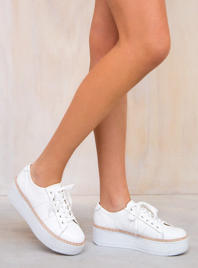 Windsor Smith White Skyla Sneakers