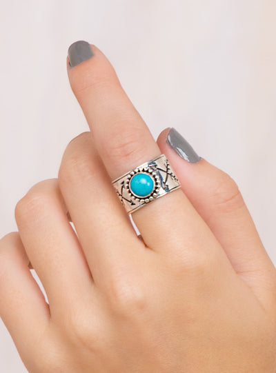 The Turquoise Hunted Ring