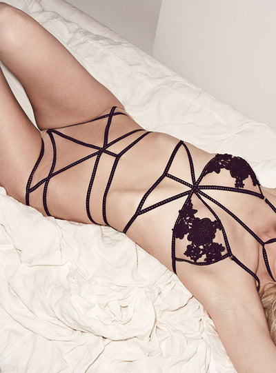 For Love & Lemons Rylee Rose Hi Waist Panty