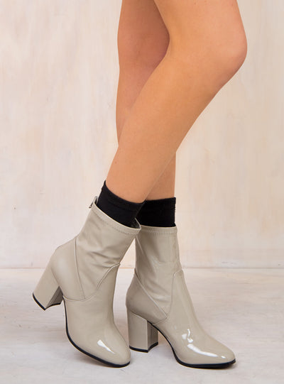 Therapy Grey Liquid Hoxton Boots