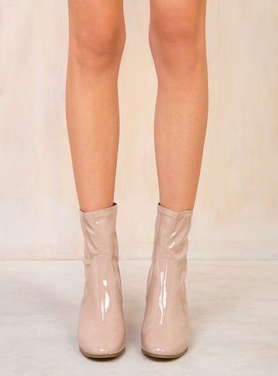 Therapy Beige Liquid Hoxton Boots
