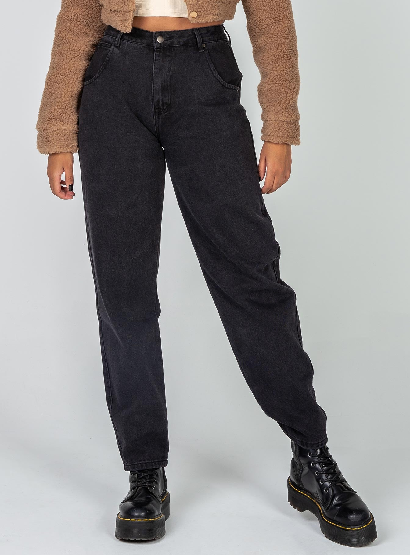 Harriett Dad Jean Black Denim