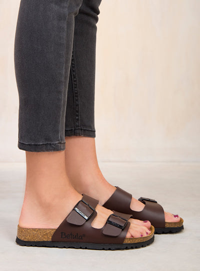 Betula By Birkenstock Dark Brown Boogie Sandals