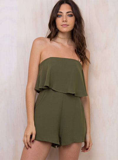 Oskar Strapless Playsuit