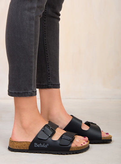Betula By Birkenstock Black Boogie Sandals
