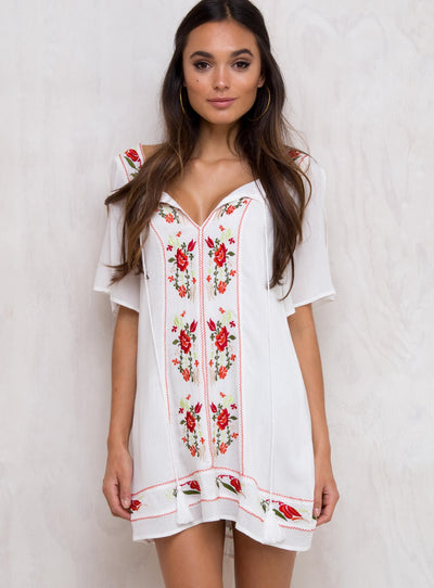 Mama Soul Embroidered Dress