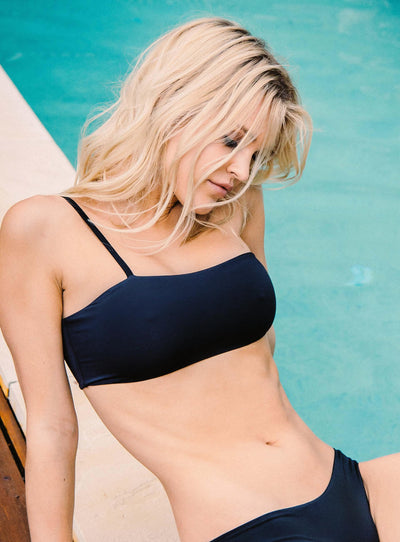 Frankie Swim Cannes Crop Black
