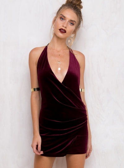 Wild Rose Halter Dress