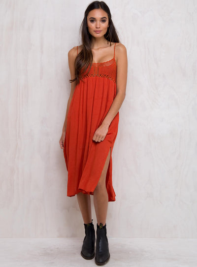 Around The Sun Midi Dress