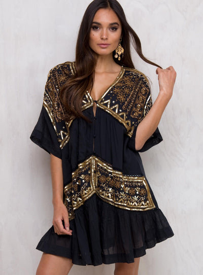 Somedays Lovin Kula Embellished Kimono Dress