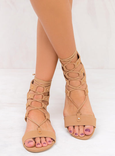 Billini Camel Nubuck Dash Sandals