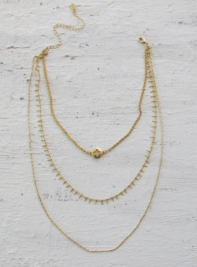 Minc Collections Gold Luxe Triple Layer Necklace