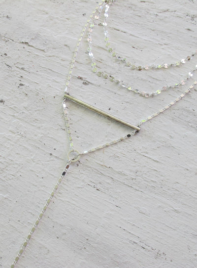 Minc Collections Silver Stardust Necklace