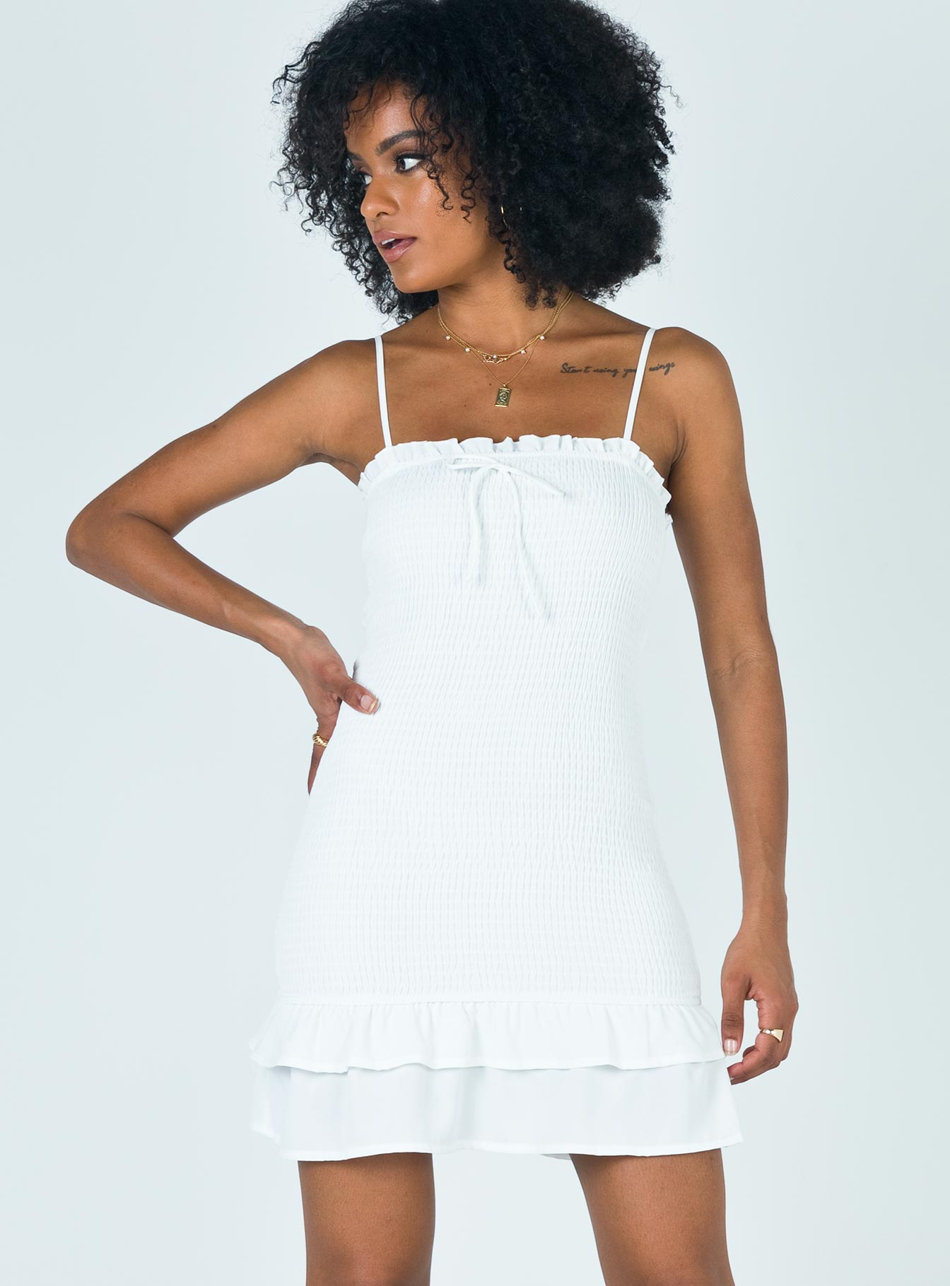 Satori Mini Dress White