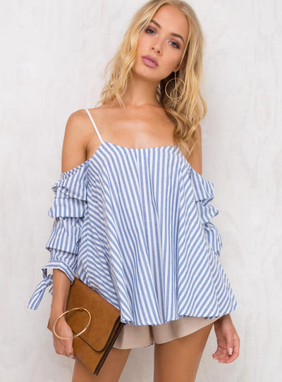 12 Step Story Ruffle Top
