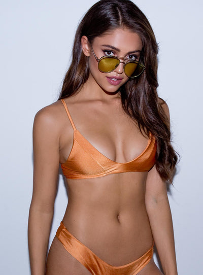 Frankie Swim Baby Bralette Metallic Burnt Orange