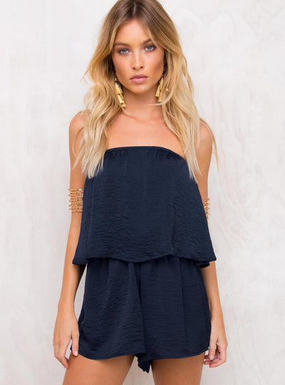 Night Hunter Strapless Romper